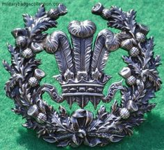 Royal Scots Dragoon Guard, Prince of Wales Feathers arm badge. which was granted to the 3rd Dragoon Guards in 1765