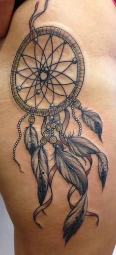 dreamcatcher tattoo for legs - Google Search