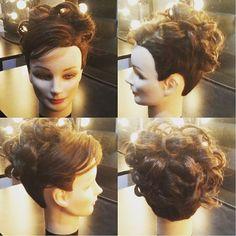 Bridal Updo with neck length hair. 👰 #updo #shorthair #bridalhair #updoforshorthair