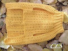 Crochet Step In Dog Sweater xxS to xxxL pattern de Copper Llama Studio # Crochet Dog Sweater Free Pattern, Crochet Dog Patterns, Knit Dog Sweater, Crochet Stitches, Sweater Patterns, Pdf Patterns, Pet Sweaters, Small Dog Sweaters, Crochet Dog Clothes