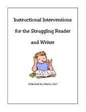 Intervention for the struggling reader and writer... I know we have been looking for things like this