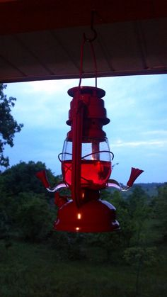 Lantern hummingbird feeder...  This is cool.  Think I will start a collection !