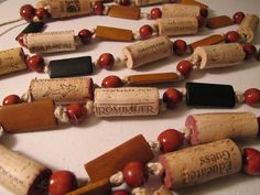 wine corks and beads