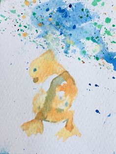 New life form as a watercolor 5*5 #newlifeform #watercolor