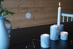 talo markki - tea light marble candle holders