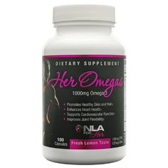 HER OMEGAS 1000mg 100 softgels ** More info could be found at the image url.