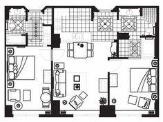 Three Bedroom Oceanfront Suite Floor Plan For Ocean 22 By Hilton Grand Vacations Club Bucket