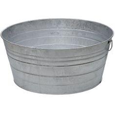 King Metalworks 28 gal. Galvanized Metal Tub $37