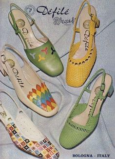 """Footwear of the 1950s"" Trendy footwear of the 1950s advertisement (pictured), Shoes [Digital image]. (n.d.). Retrieved October 13, 2017, from https://i.pinimg.com/originals/80/0f/7f/800f7fb0c8f95ce83f040e79ef2d6d04.jpg"