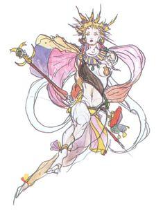 Final Fantasy III - Unknown Concept Art - Yoshitaka Amano