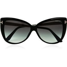 Tom Ford Reveka Cat Eye Sunglasses (2.375 DKK) ❤ liked on Polyvore featuring accessories, eyewear, sunglasses, black, cocktail glasses, engraved cocktail glasses, oversized glasses, cateye sunglasses and cat eye sunglasses