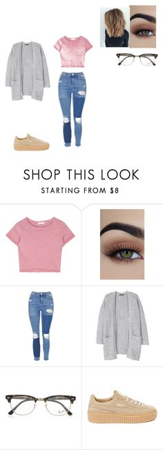 """Untitled #871"" by melissaperez427 on Polyvore featuring Topshop, MANGO, Ray-Ban and Puma"
