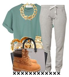 """."" by trillest-queen ❤ liked on Polyvore featuring Russell Athletic, Pluma, Giuseppe Zanotti, Movado and MICHAEL Michael Kors"