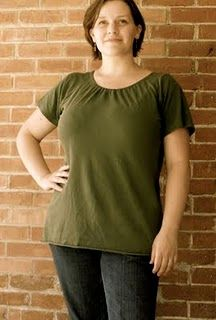 I hate plain ol' t-shirts.  But this - this makes cheap look good.  Too easy!  Must try.