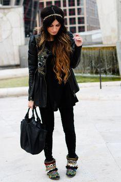 11/25/12 Manoush jacket, Asos sweater, Urban Outfitters pants, Loewe bag, Sendra boots, Sfera headband.