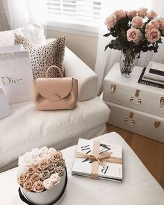 My heart has been stolen by the beautiful handbags ♡ featuring the pink color here 💫✨ what color would you make yours? Gold Aesthetic, Classy Aesthetic, Aesthetic Room Decor, Style Deco, Luxury Home Decor, Beauty Room, Colorful Decor, House Colors, Room Inspiration