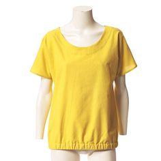 """Bluse mit Gummizug nähen - eine Anleitung - """"Die Bluse mit Gummizug nähen wir aus gelbem Batist. Sie hat einen angeschnittenen Arm und ist auch für Nähanfängerinnen bestens geeignet."""""""