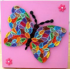 peacock quilling patterns | Quilled Butterflies