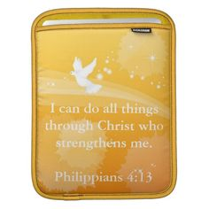 Christian Bible quote iPad Sleeve
