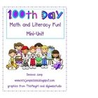 Have some fun on the 100th Day of School with this Math and Literacy Mini Unit.  This Mini unit includes directions and patterns for the Me at 100 ...
