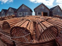 Fishing Huts and Lobster Traps in P.E.I, Canada