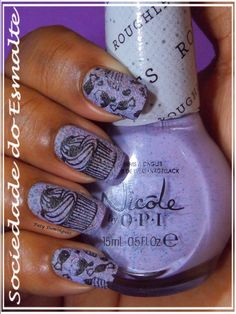 I'm Stucco On You - Nicole by OPI  Carimbada com Betina 01 e MoYou Pro Collection 07!