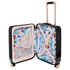 Buy Ted Baker Opulent Bloom 4-Wheel 54cm Cabin Suitcase, Black Online at johnlewis.com