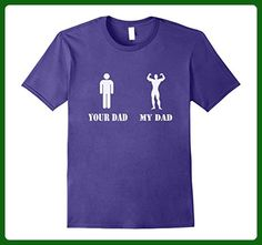 Mens your dad and my dad funny t shirt Small Purple - Relatives and family shirts (*Amazon Partner-Link)