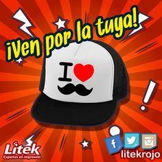 ¡Personaliza tus gorras! Se creativo! Se original! Crea e inventa que nosotros lo hacemos realidad! ✨✨✨ #Litek #ExpertosEnImpresión #PiensaRojo #impresion #decoracion #vinil  #lona #anuncio #imprenta #invitaciones