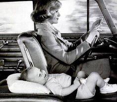 Ad for Rambler, 1962...long before car seats.
