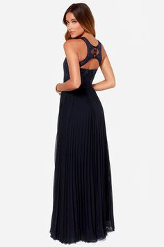 Lovely Navy Blue Dress - Lace Dress - Maxi Dress - $248.00