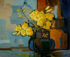 Vaso de flores, 1960 Teisuke Kumassaka (Japão, 1901- Brasil, 1987) óleo sobre tela, 50 x 60 cm