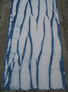 Indigo Dyed Upcycled Vintage Table runner by CapeCodShibori