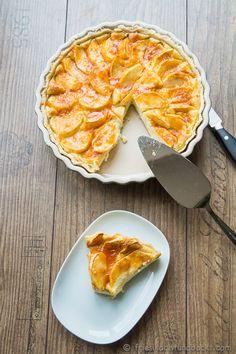 Rezept für eine Apfel-Ricotta Tarte mit Mürbeteig.