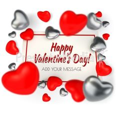 A your own message to this card surrounded by hearts. Perfect for Valentine's day or an expression of love. #powerpoint #clipart #illustrations