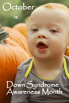 It's Down Syndrome Awareness Month! October is the greatest! Down Syndrome Quotes, Down Syndrome And Autism, Down Syndrome Awareness Month, Down Syndrome Baby, Special Kids, Special People, Precious Children, Beautiful Children, October Awareness Month