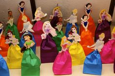 Cute Princess Party Favor Bag by Mango Stix can't tell by the description, but the upper body cutouts would make great puppets if you put them on popsicle sticks. . .