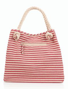 Talbots - Striped Rope-Handle Canvas Tote | |