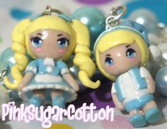 Hansel and Gretel Chibis Polymer Clay Charms by PinkSugarCotton88, $30.00