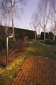 #buitenverlichting - Geborstelde stalamp RASL - 21 x 11 x 79 cm