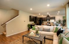 A layout to maximize space in this great room Maximize Space, New Homes For Sale, Home Automation, Great Rooms, Townhouse, Living Rooms, Building A House, Sapphire, Floor Plans