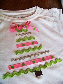 Cute and easy idea for christmas shirts for the girls! I could probably do this :)