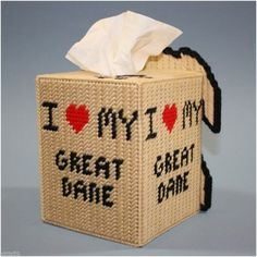 Plastic Canvas Tissue Box Covers, Large Assortment, Hand Crafted in the USA