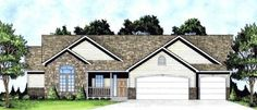 Elevation of Ranch   Traditional   House Plan 62627  Good house plan for two to share?