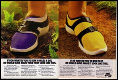 Nike running shoe ad from the 1980s.