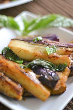 Fried Eggplant with Basil