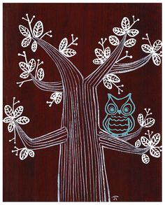 Modern Owl Print