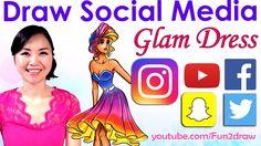FASHION. ART. CHALLENGE. - Social Media RED CARPET DRESS - YouTube