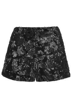 Velvet Sequin Shorts