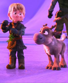 Baby Kristoff and Sven - they're so adorable!!!!!